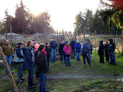 Community Farms roundtable at OUR Ecovillage, Shawnigan Lake (Photo: J. Dennis)